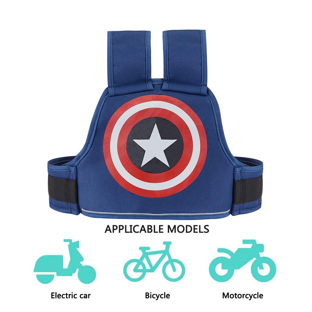 Cintur/ón de Seguridad para Ni/ños Coche El/éctrico Cintur/ón de Seguridad Ajustable Multifunci/ón Motocicleta de Montar a Prueba de Ca/ída Arn/és de Seguridad para Ni/ños Ni/ñas