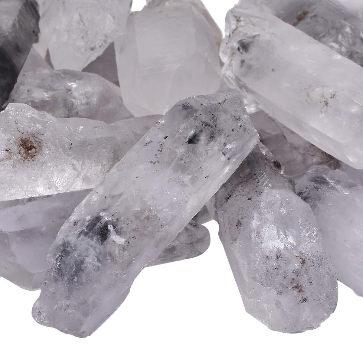 rockcloud 1//2 lb Natural Rough Rock Quartz Crystal Point for Jewelry Making RCZ0010101