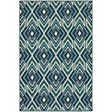 Washable Rug, Navy Transitional Indoor Outdoor Rug, 1′ 10″ X 2′ 10″ [ 2×3 ] Review
