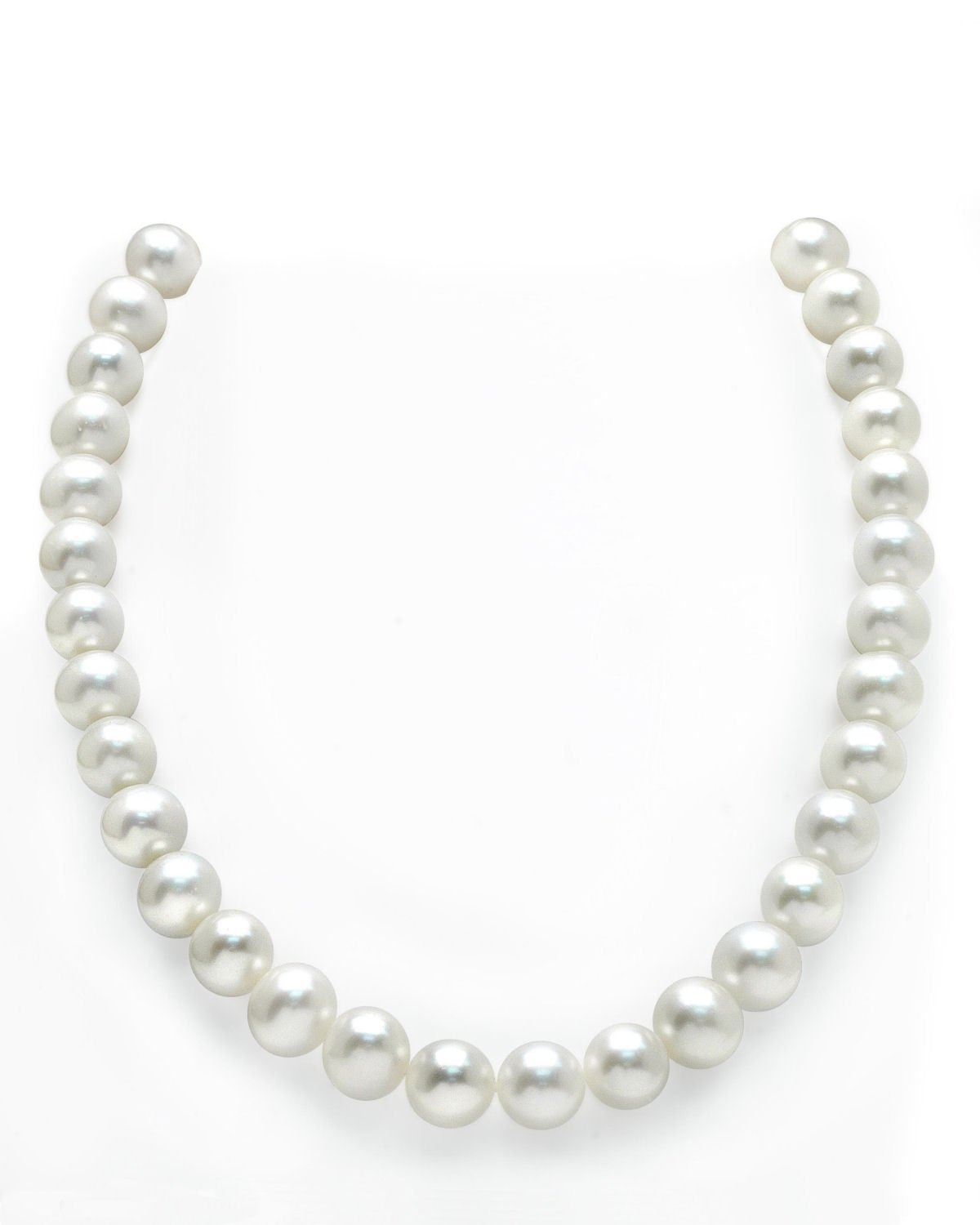 14K Gold 11-12mm White Freshwater Cultured Pearl Necklace - AAAA Quality, 16'' Choker Length