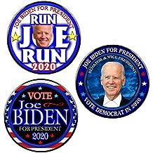 Pack-3 Joe Biden 2020 President Pin-Back Buttons