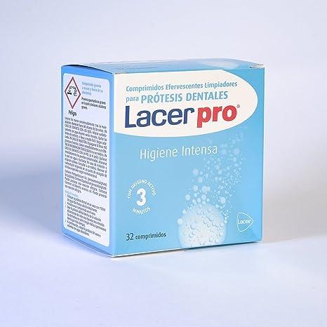 LACER Protabs Tabletas Limpiadoras de Prótesis Dentales 32 comprimidos