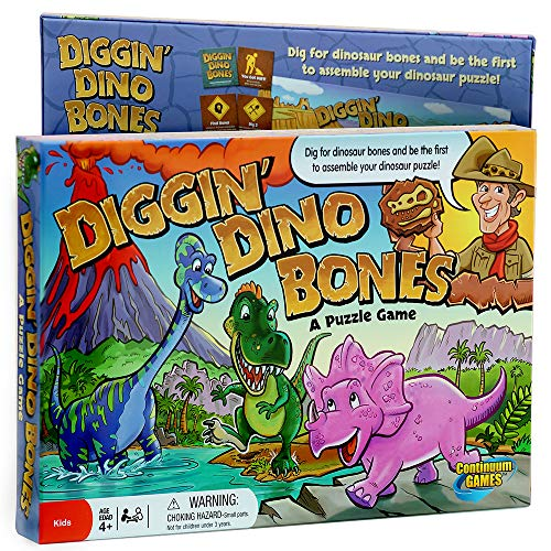 Continuum Games - Digging Dino Bones Board Game, Kids Aged 4 & Up]()
