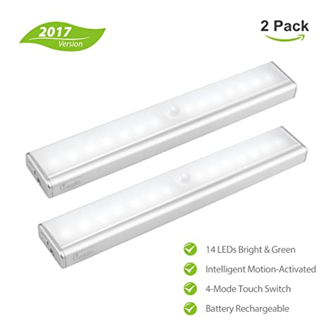megulla® 14-LED batería li funciona con pilas para interiores inalámbrico lámpara LED con