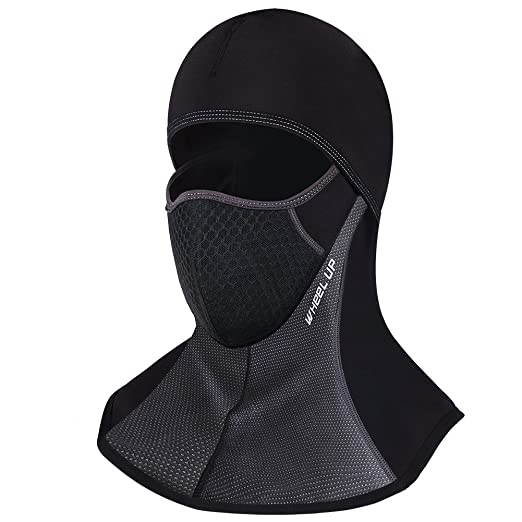 ROTTO Balaclava Ski Mask Motorcycle Cycling Thermal Windproof and  Waterproof (Black-A(with 614436629253