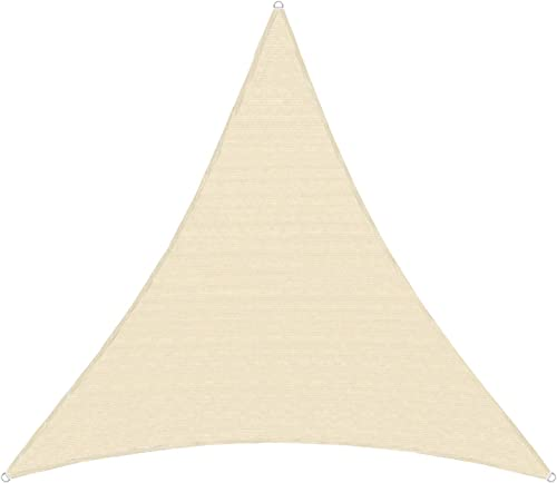TANG Sunshades Depot 24x24x24' FT 240 GSM Beige Sun Shade Sail Canopy Rectangle Sand UV Block Sunshade