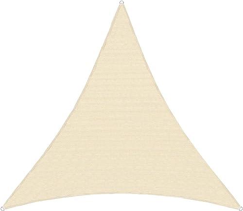 TANG Sunshades Depot 24x24x24' FT 240 GSM Beige Sun Shade Sail Canopy Rectangle Sand UV Block Sunshade