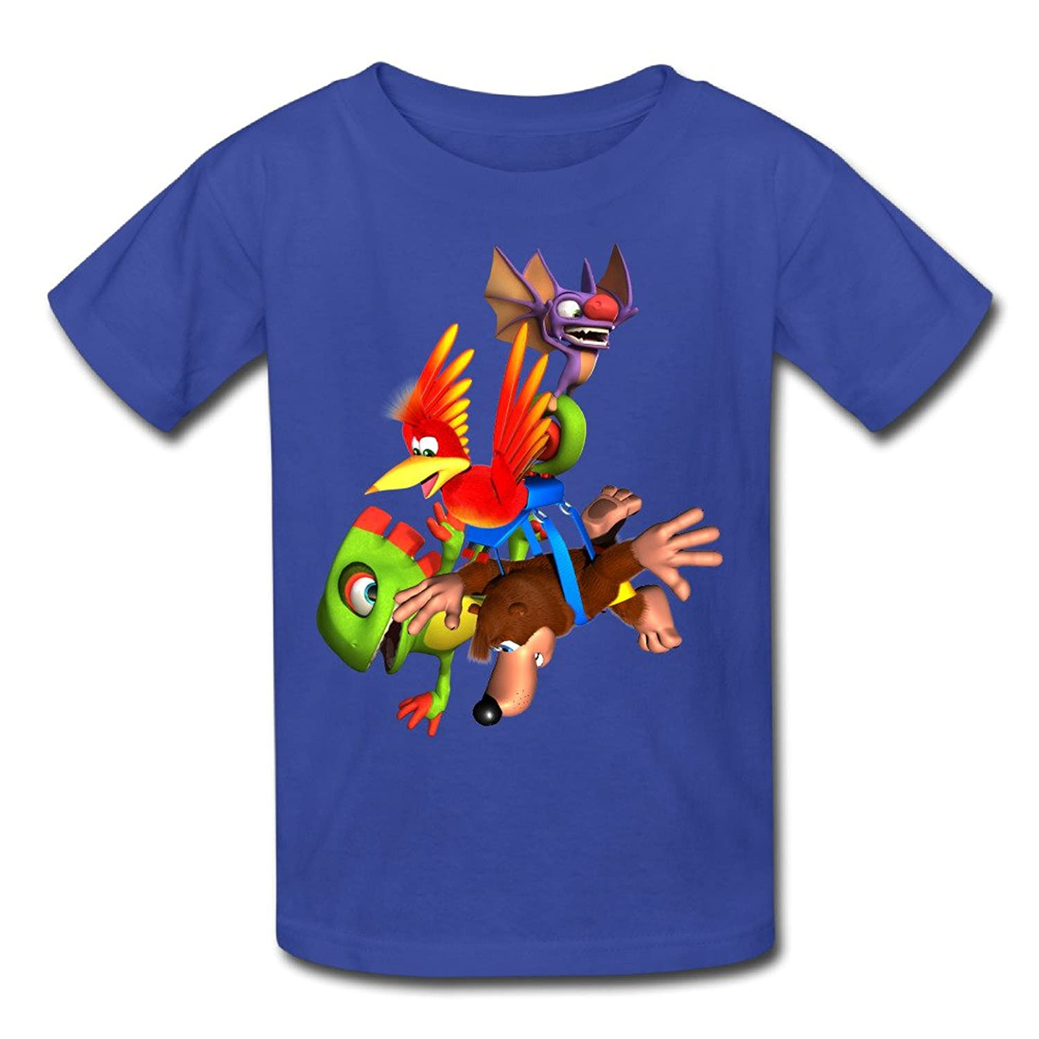 Banjo-Kazooie And Yooka-Laylee Youth Retro Normal Fit Short Sleeve T-Shirt