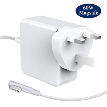 Liveimpex Compatible para MacBook Pro Cargador Apple A1278 A1172 A1181 A1184 A1244 A1330 A1342, Compatible para 60W MagSafe 1 Adaptador de Corriente ...