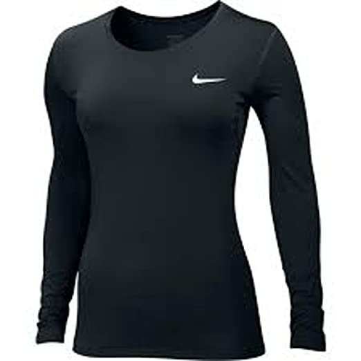 1bfff967 Image Unavailable. Image not available for. Color: Nike Womens Pro Cool  Training Top (Black/White, Large)