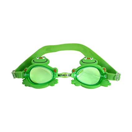 8577d1107292 Image Unavailable. Image not available for. Color  Water Gear Children s  Animal Swim Goggles - Green Frog