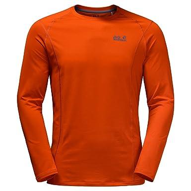 7d04a29b0ffca4 Amazon.com: Jack Wolfskin Men's Hollow Range Long Sleeve Top: Clothing
