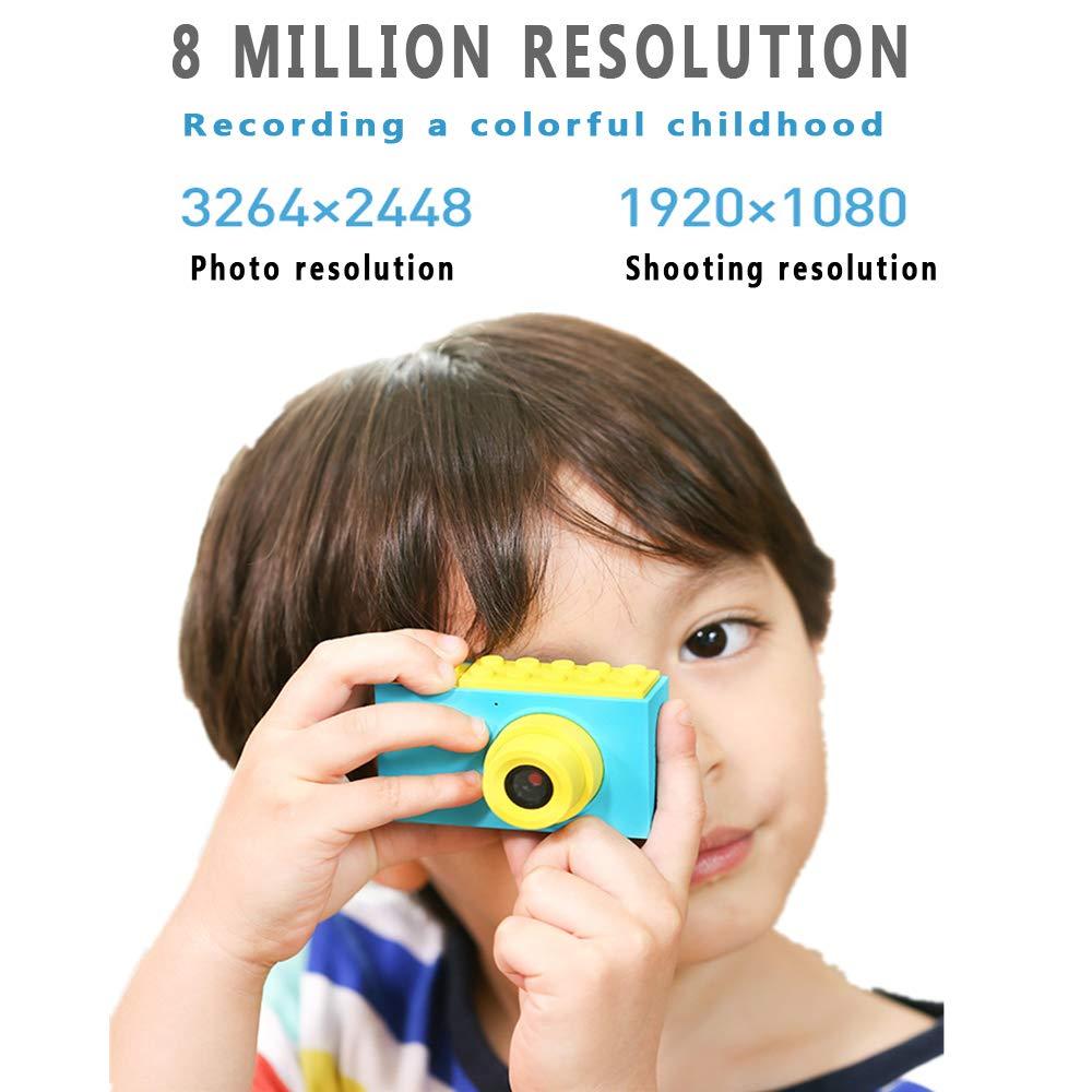 45c0862c7be2c QKFG CáMara para NiñOs CáMara De Video Digital para NiñOs Pantalla HD De 8  Millones De PíXeles De 2