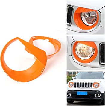 2x Angry Bird Headlight Bezels Cover Trim for Jeep Patriot 2011-2015 2016 2017
