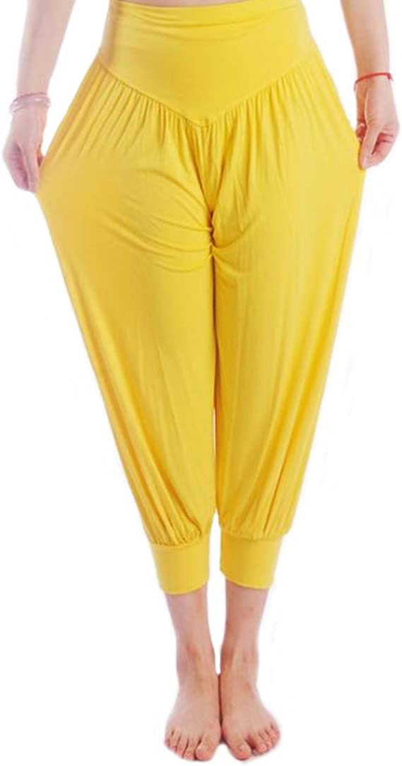 MEISHINE® Verano Mujer 7/10 Holgados Pantalones Deportivos Pantalones de Yoga Algodón Modal Harem Pantalón Polainas para Danza, Yoga, Ganduleado, Fitness: Amazon.es: Ropa y accesorios