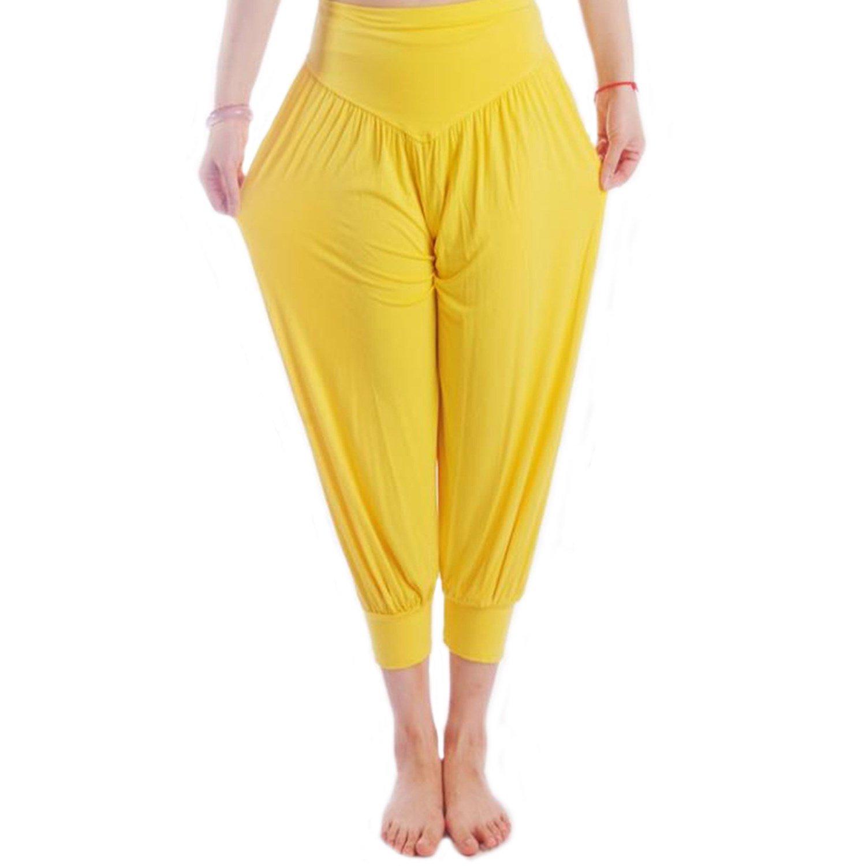 MEISHINE® Verano Mujer 7/10 Holgados Pantalones Deportivos Pantalones de Yoga Algodón Modal Harem Pantalón Polainas para Danza, Yoga, Ganduleado, ...