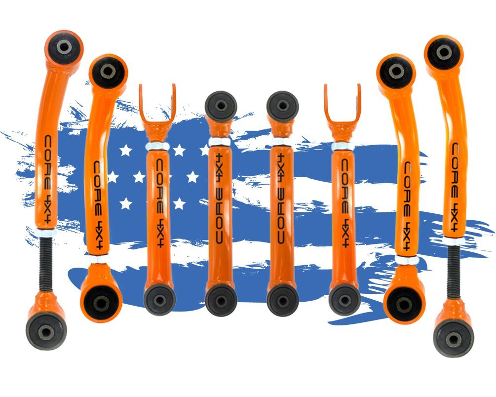 Wrangler JK 2007-2018 Complete Control Arm Set TIER THREE Green LIFETIME REPLACEMENT GUARANTEE