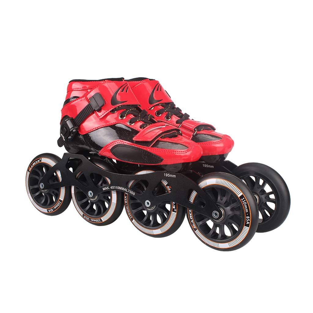 WEN ローラースケート、 プロのスピードスケートシューズ、   大人の子供たちのスケート、   インラインスケート、 ビッグホイールレーシングシューズ ローラースケート Inline skate (色 : ブラック, サイズ さいず : 44) B07QZL22JN 37|ブラック ブラック 37