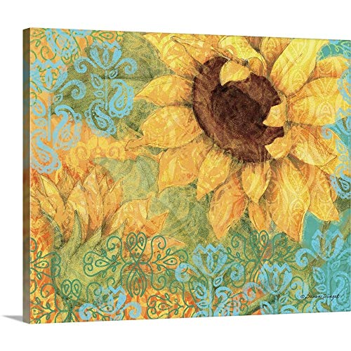 GREATBIGCANVAS Gallery-Wrapped Canvas Entitled Sunflower by Susan Winget 24