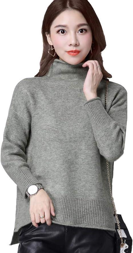 QJKai Suéter de otoño e Invierno para Mujer Delgado Jersey de ...