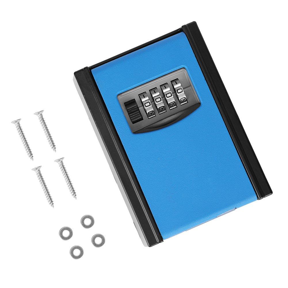 4 Digit Key Lock Box,Key Storage Lock Box for Outdoor Wall Mounted Lock Box,Combination Password Safety Lock Organizer Case