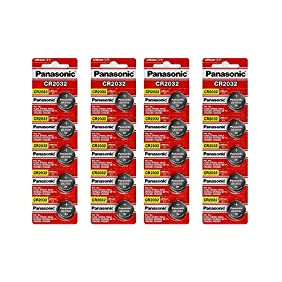 Panasonic CR2032 3 Volt Lithium pVhMU Coin Battery, 10 Count (2 Pack)