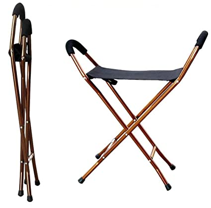 Amazon.com: wymname bastón plegable asiento, personas ...