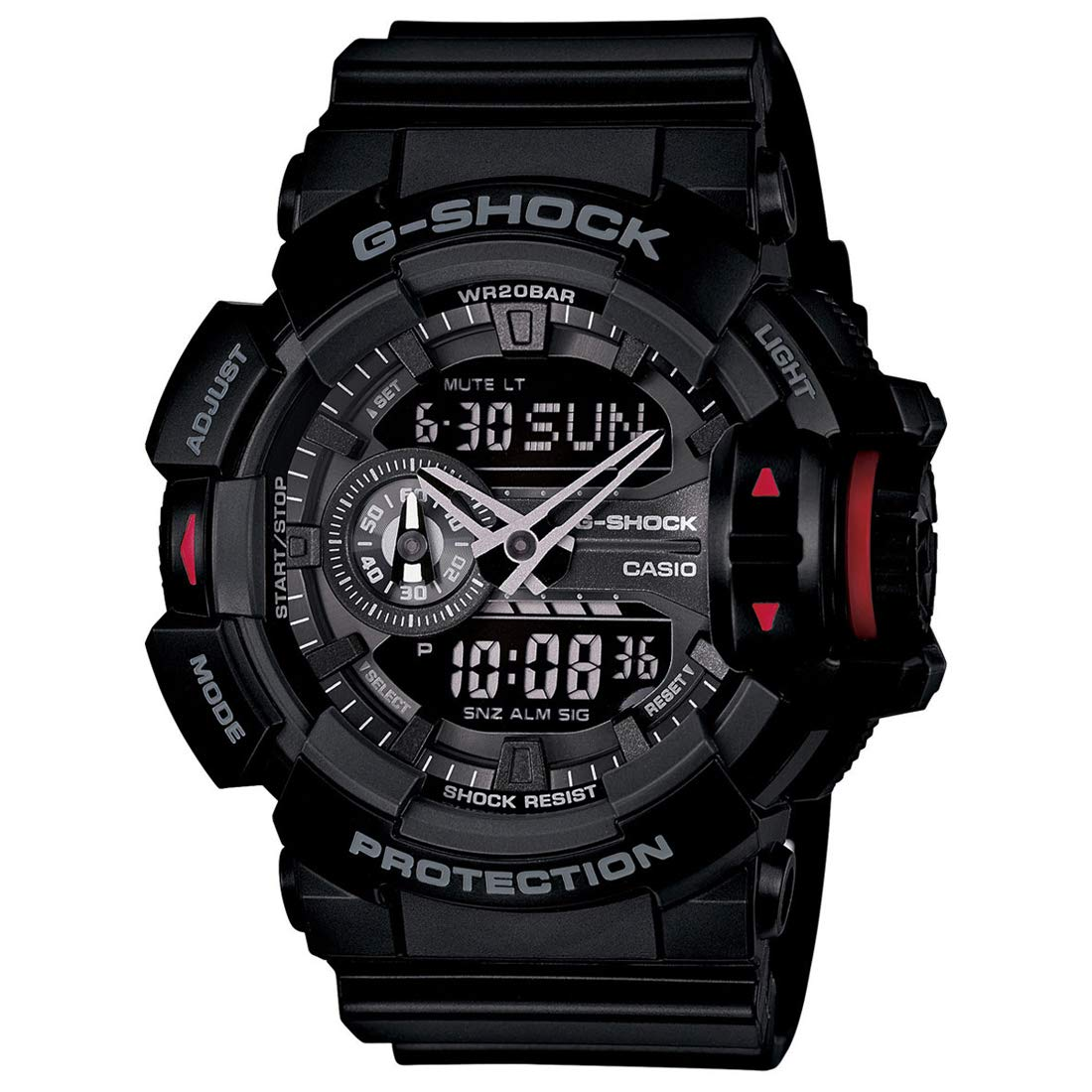 ea29bcfcce68 Buy Casio G-Shock Analog-Digital Black Dial Men s Watch - GA-400-1BDR  (G566) Online at Low Prices in India - Amazon.in