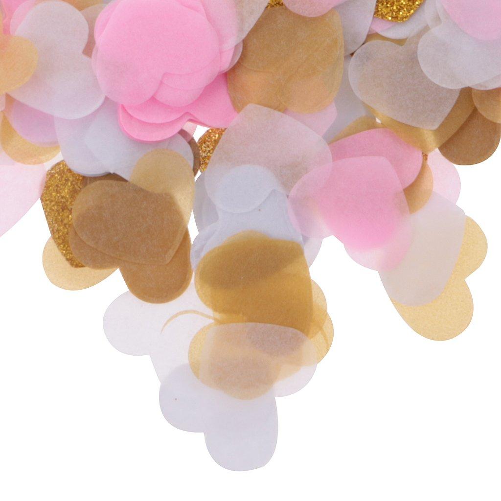 Sharplace 1400pcs Mini Coeur Papier Pet Confettis de Table Multicolore Fourniture D/écor de F/ête 2 x 2.5cm Noir
