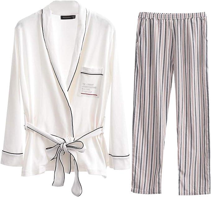 Pijama Otoño De Las Mujeres Pijamas De Moda Sexy Corbata De Cuerda ...