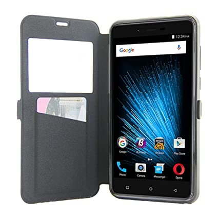 new styles d82d2 29713 LIZAIDA MENENDEZ BLU VIVO XL2 case LIQING [ BLU VIVO XL2 Cell Phone  Protective Cover with Wallet Pocket ] [ Flip Cell Phone Case with View  Window for ...