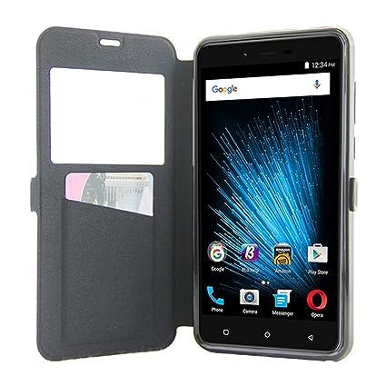 best service 635bb d2475 Amazon.com: BLU VIVO XL 2 case [ Flip Cell Phone Case with View ...