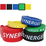 Synergee Pull Up Assist Bands - Heavy Duty Resistance Bands - Power Band Resistance Loop Exercise Bands Mobility & Powerlifting Bands - Perfect for Stretching, Powerlifting, Resistance Training
