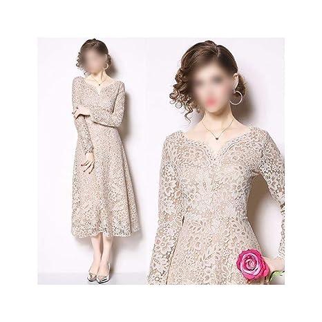 Heyg Dress Vestir Moda Casual Vestido Maxi Con Cuello