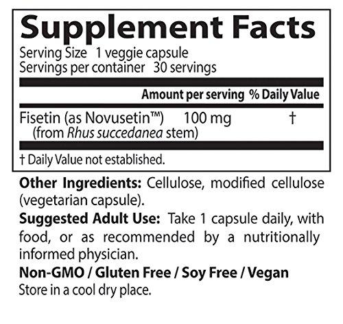 Doctor's Best Fisetin with Novusetin, Non GMO, Vegan, Gluten Free, Soy Free, 100 mg, 30 Veggie Caps