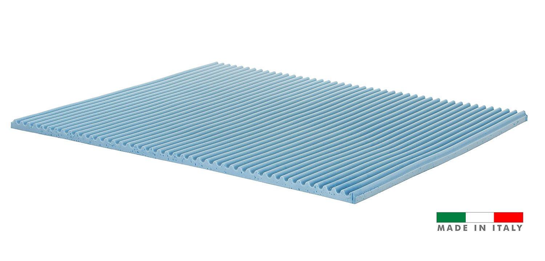 Topper correttore memory foam Singolo mis 80x190 5cm Rivestimento Aloe Vera sfoderabile