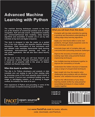 Advanced Machine Learning with Python new
