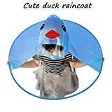 MOONHOUSE Kids Raincoat Cartoon Raincoat Packable