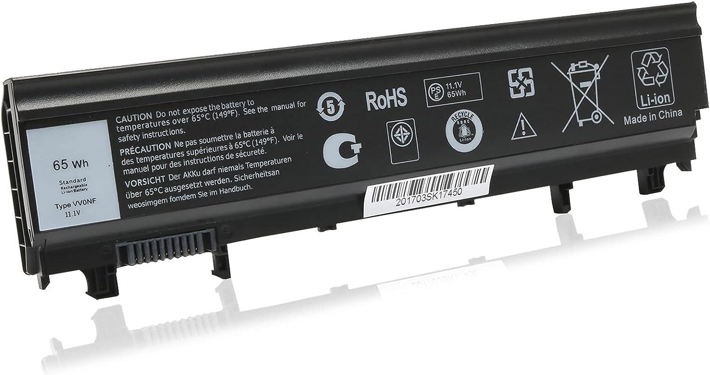 65WH 11.1V VV0NF Laptop Battery for Dell Latitude E5540 E5440 N5YH9 NVWGM CXF66 0M7T5F 0K8HC 1N9C0 WGCW6 F49WX VJXMC 7W6K0 3K7J7 FT6D9 M7T5F 9TJ2J Efficiency 6-Cell Battery
