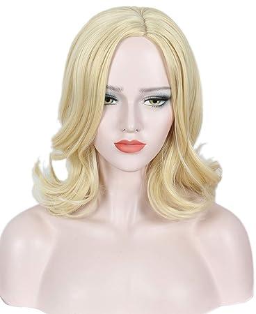 Amazon.com : Linfairy Short Blonde Wig Halloween