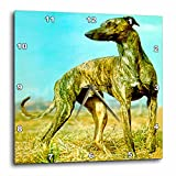 Dogs Greyhound – Brindle Greyhound – 10×10 Wall Clock (dpp_484_1) For Sale