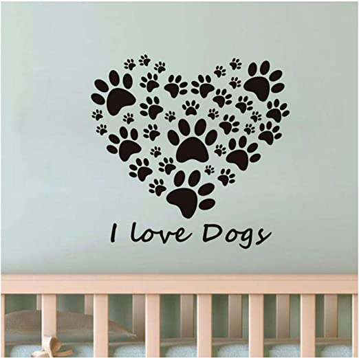 """Dog Bone 3/"""" Vinyl Decal Removable Wall Sticker Pet Decal Paws Set 16 DIY Easy!"""