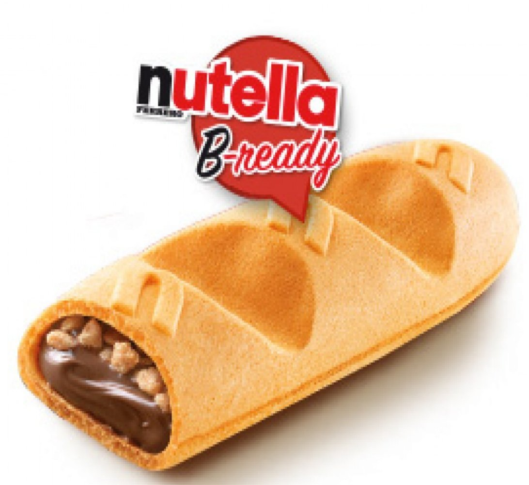 Ferrero: ''Nutella B-ready '' a crisp wafer of bread in the form of mini baguette stuffed with a creamy Nutella 10 pieces 7,76 oz (220g) pack of 6 by Nutella (Image #4)