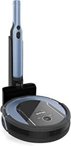 Shark ION Robot Vacuum Cleaning System S87 with Wi-Fi, Bonus Robot Dock & 8-ft. BotBoundry Strips, Ice Blue