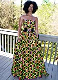 Best Wedding Kente Fabric 6 Yards Kente Print Kente Cloth | Kente Sash African Fabric KF307 (Green and Purple)