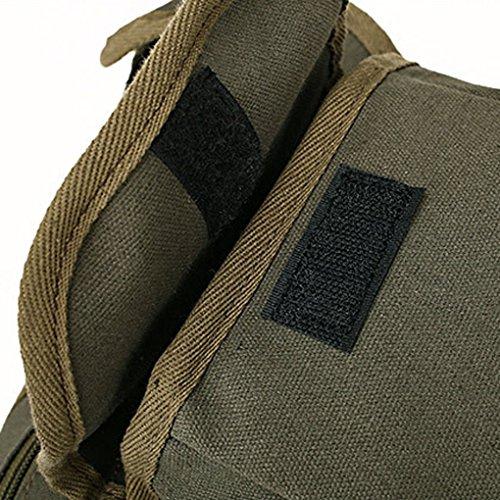 Bobury Multifunción de los hombres de deporte al aire libre de la pierna bolsa de lona de la cintura bolsa de dinero del paquete de la correa de viaje Bolsas Negro 32 * 23 * 6CM ejercito verde