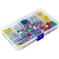 500 Piezas Imperdibles con Cajas de Plástico, Tamaño Surtido Grandes y Pequeños Safety Pins, Seguridad Alfileres para…