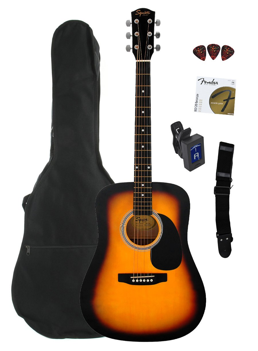 Fender Squier Dreadnought Acoustic Guitar Bundle