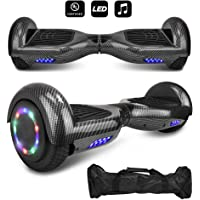 """CHO 6.5"""" inch Wheels Electric Smart Self Balancing Scooter Hoverboard with Speaker LED Light - UL2272 Certified"""