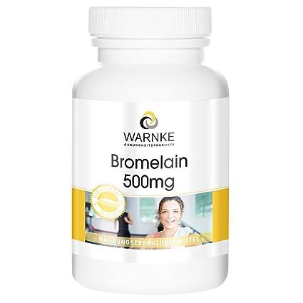 Bromelina 500mg de Warnke con encimas naturales de piña -250 comprimidos- Paquete grande-
